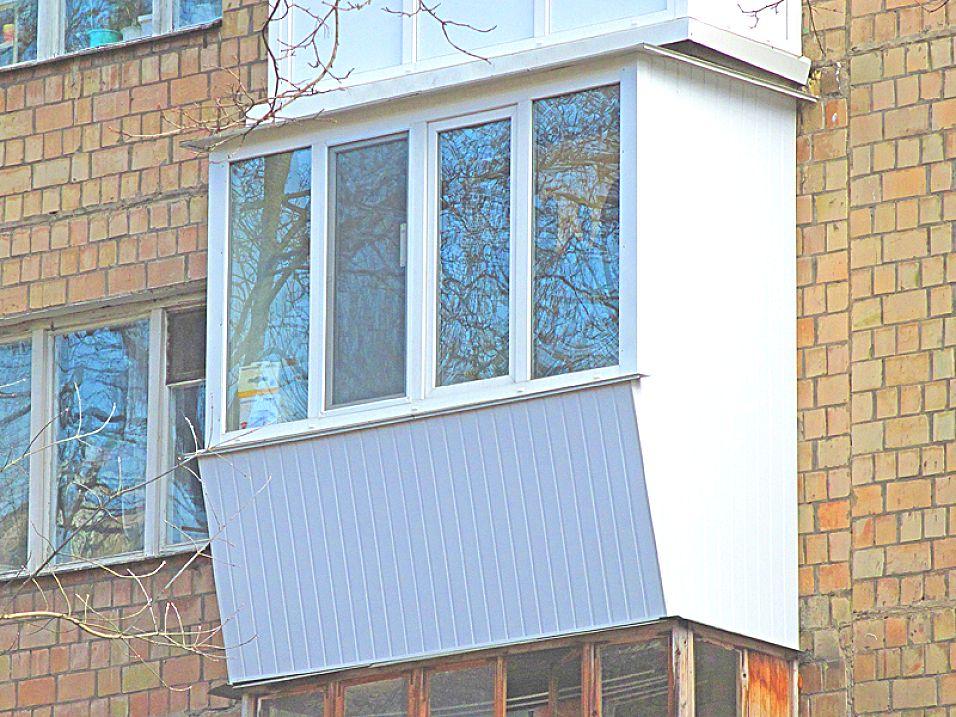 Балкон с выносом вперед, под ключ, стоимость работа+материал.