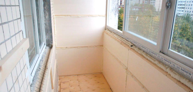 Утепление стен и парапета лоджии пенопластом, цена 3670 р - .