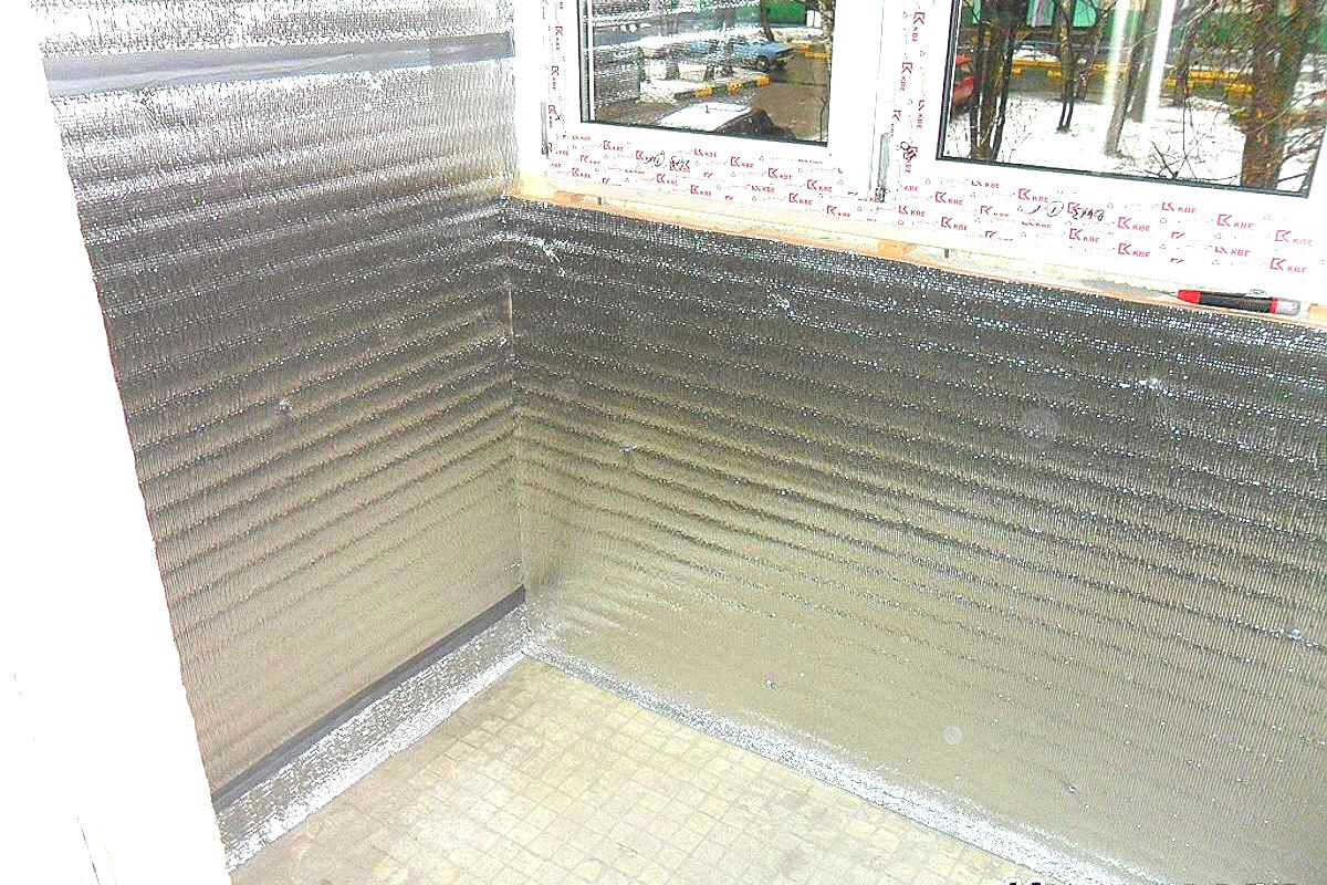 Утепление фольгоизолом лоджии 3 метра под отделку, цена - 2 .